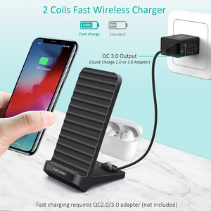 Image 3 - Snelle Qi Draadloze Oplader Voor iPhone XS XR X 8 Samsung S10 S9 QC 3.0 Type c PD Quick charge Multi Usb Telefoon Opladen Dock Station
