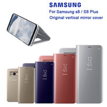 Original For SAMSUNG Mirro Cover Clear View Phone Case For Samsung Galaxy S8 G9500 G950 SM-G9508 G9508 SM-G9500 Rouse Slim Flip чехол для samsung galaxy s8 sm g950 nillkin qin leather cover красный