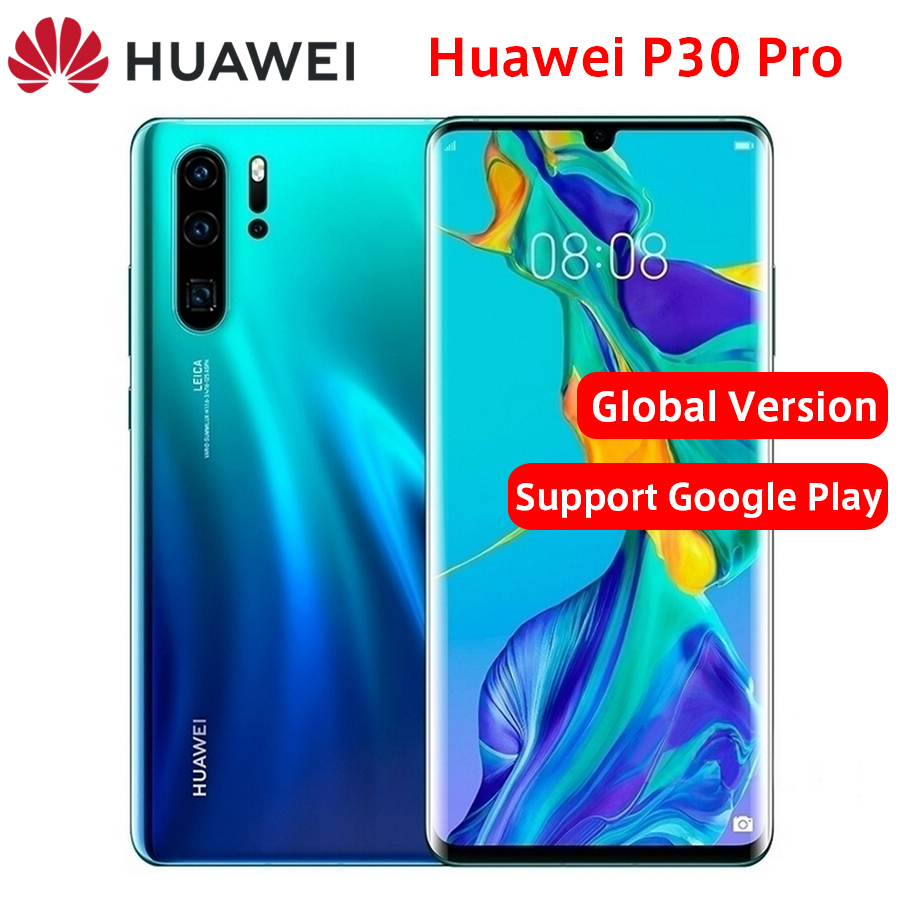 "Global Version Huawei P30 Pro LTE Mobile Phone 6.47"" 8GB RAM 128/256GB ROM Kirin 980 Octa core Android 9.0 FingerPrint Phone"