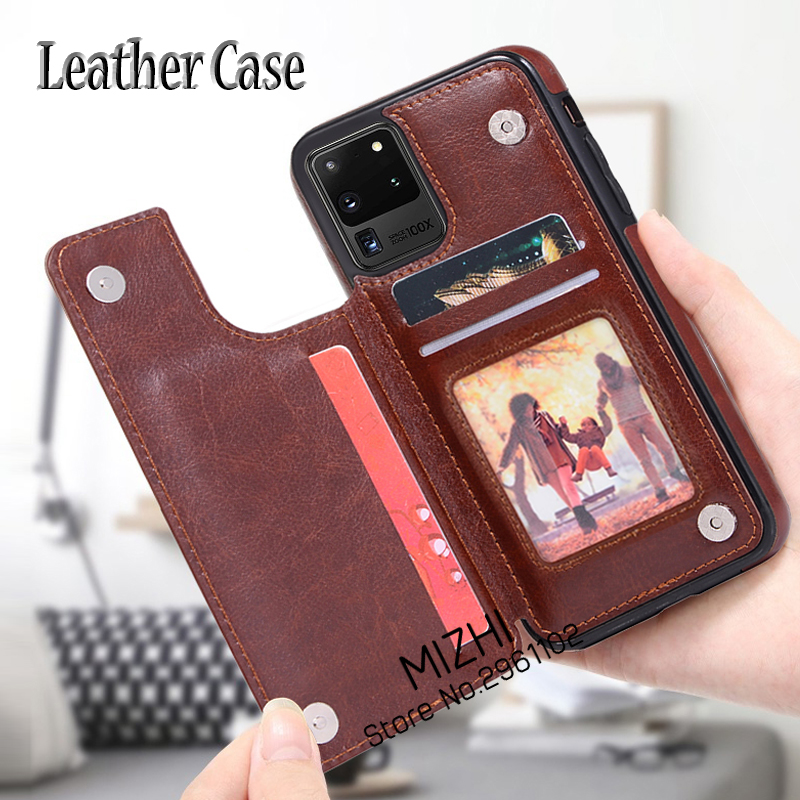 Leather Magnetic Stand Flip Phone Case For Samsung Galaxy S20 Ultra Wallet Cases For Samsung S 20 S20 Plus S20ultra S20+ Coque