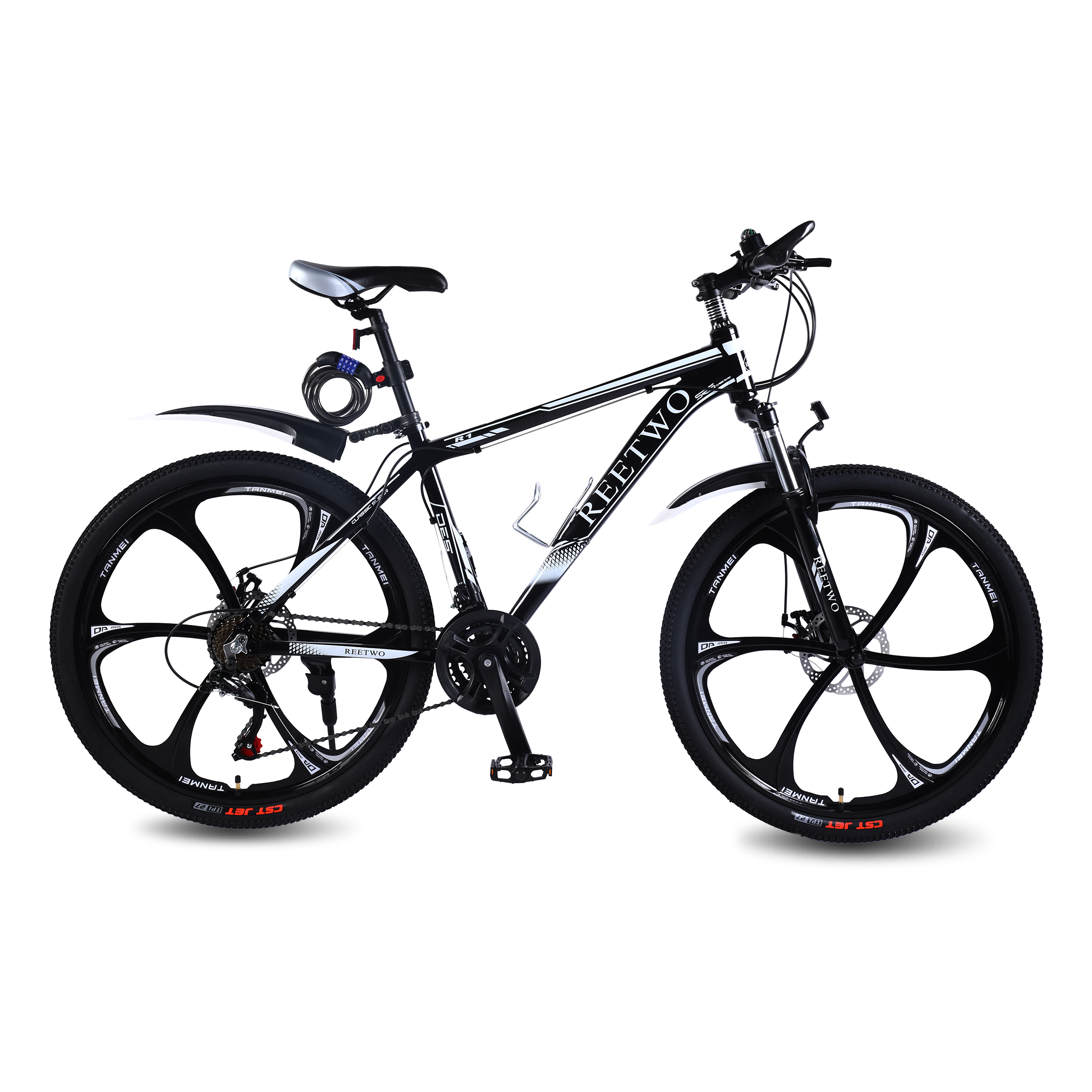 REETWO R1 26 Inches Mountain Bike 21 Speed Mountain Bicycle For Men And Women, MTB Disc Brakes With Aluminum Frame Riding Bike