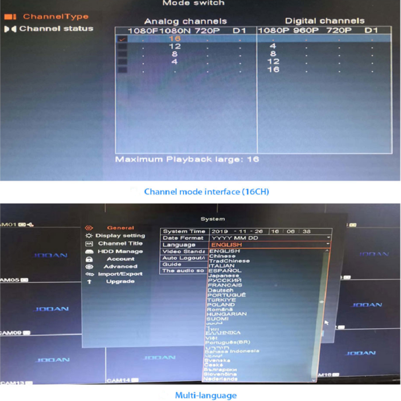 Closeout DealsCctv-Recorder Dvr 16ch Analog-Camera Surveillance 1080p-Video AHD 4CH 8CH for CVBS Onvif