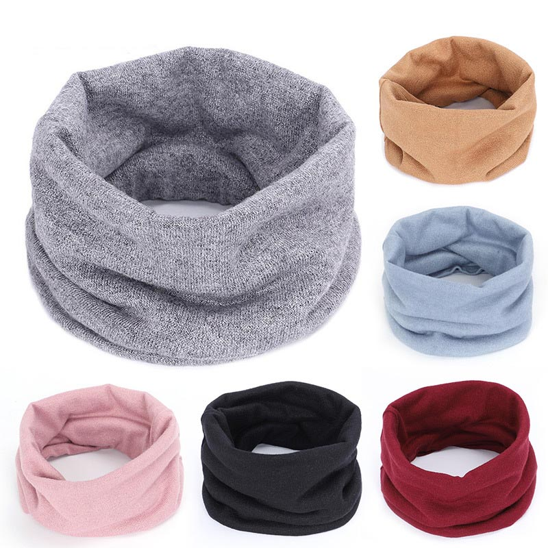Autumn And Winter Comfortable Wild Scarf Cashmere Collar Men And Women Knitted Solid Color Fake Collar Neck Warm Head Scarf