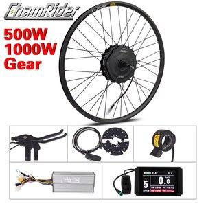 Image 1 - มอเตอร์ล้อ1000Wไฟฟ้าชุดจักรยาน500Wไฟฟ้าชุดจักรยานMXUSไฟฟ้าล้อ19Rเกียร์มอเตอร์Ebikeชุด