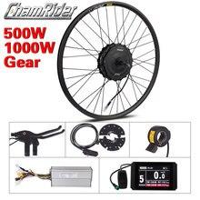 Koło silnikowe 1000W zestaw do rowerów z napędem elektrycznym 500W zestaw do roweru elektrycznego MXUS elektryczny 19R napęd piasty koła z przekładnią zestaw do zamiany na rower elektryczny
