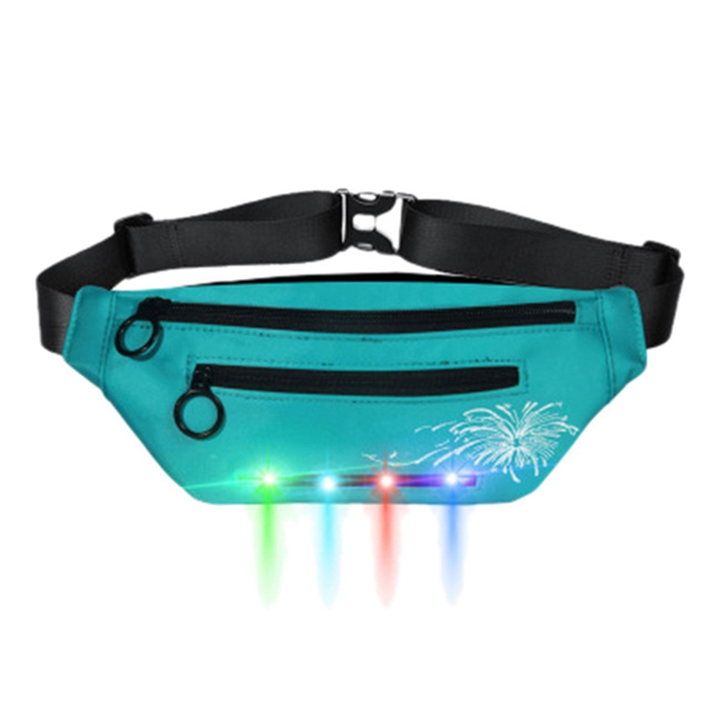 Unisex Waist Bag Outdoor Fashion Sports And Leisure Fanny Pack Led Flash Pockets Hiking Phone Belt Bag