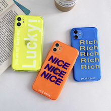 Fashion letter Neon Fluorescent Color Phone Cases For