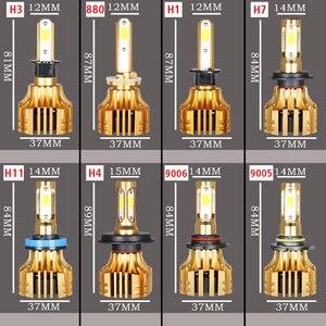 Image 5 - PANDUK LED far 16000LM 4300K 6000K 9005 H1 880 H4 Led H3 H7 LED H11 Led 3000K 9006 HB3 HB4 ampul süper parlak araba lambası 12V