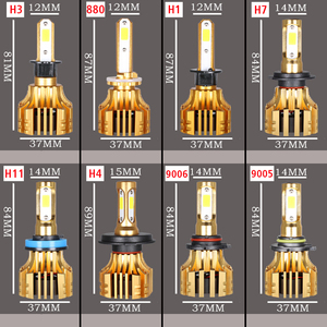Image 5 - PANDUK faro LED para coche, 16000LM, 4300K, 6000K, 9005 H1, 880 H4, Led H3, H7, LED H11, 3000K, 9006 HB3, HB4, Bombilla Super brillante luz del coche, 12V