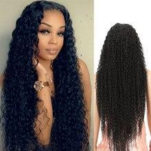 Peruca dianteira do laço 38 polegada super longa peruca dianteira do laço sintético kinky encaracolado cabelo loiro marrom preto 6 cores perucas de cabelo longo para mulher