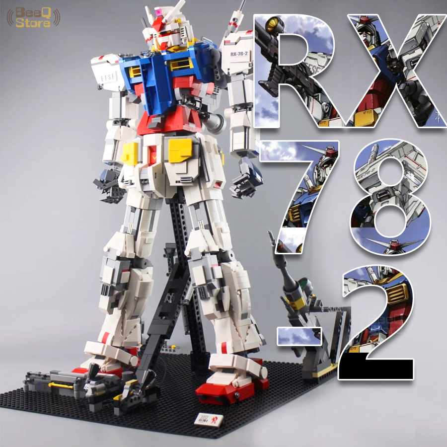 Robot Block Super Robot War Mecha Classic Gundam Model 18K RX78-2 1:60 3500Pcs Fixed Bracket Building Block Bricks Boy Toys