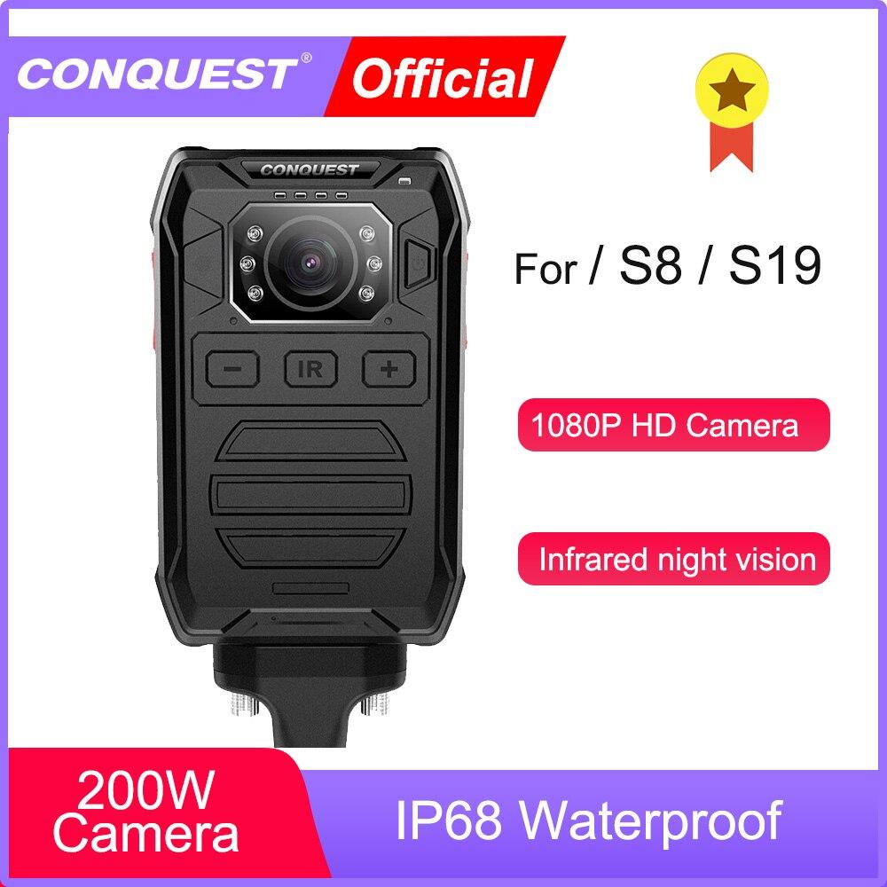 CONQUEST P81 нательная камера HD 1080P DVR видеокамера безопасности ИК Ночное Видение носимая мини-видеокамера полицейская камера для S8 S19