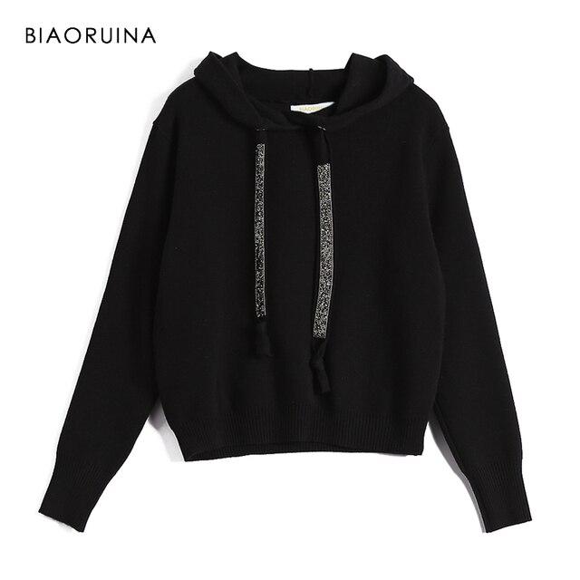 Biaoruina 女性クラシックオールマッチカジュアルニットトレーナー女性のファッションヴィンテージパーカーシックな女性のすべてのマッチプルオーバー