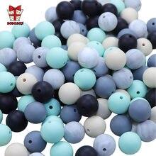 Bobo. dentição de silicone redondo perle 15mm, caixa 10 peças, contas de silicone, chupeta, acessórios para bebês, produtos para bebês