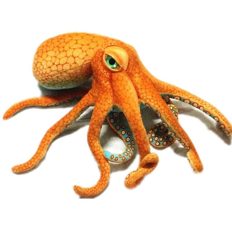 55~80cm Giant Simulated Octopus Stuffed Toy High Quality Lifelike Stuffed Sea Animal Doll Plush Toys For Children Boy Xmas Gift