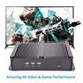 Безвентиляторный промышленный компьютер Eglobal, 24 часа работы, intel core i5 4200U i7 5500U i3 5005U HDMI VGA Win10 Linux, безвентиляторный 4K HTPC