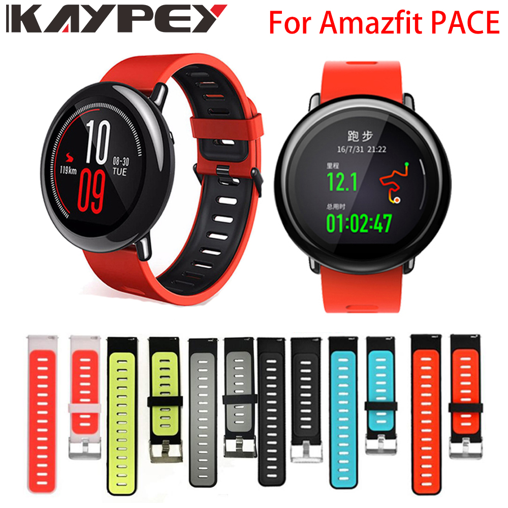 Wrist Strap 22mm Sports Silicone Bands For Xiaomi Huami Amazfit PACE Stratos 2 2S GTR 47mm Smart Watch Replacement Smart Band