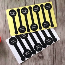 70pcs/pack Cake Packaging Seal Label Kraft Sticker Baking DIY Herb Handmade Black Lollipop Sealing Stickers