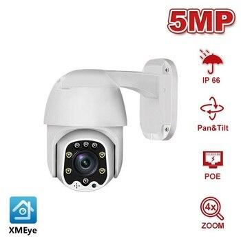5MP 2MP Dome POE PTZ IP Camera 4X Optical Zoom 2.8-12mm With Audio Home/Outdoor Waterproof IR 30m Onvif H.265 P2P XMEye 2mp 4mp full hd ptz ip camera 2 8 12mm motorized lens mini speed dome camera ip onvif 4x zoom p2p 30m ir night vision