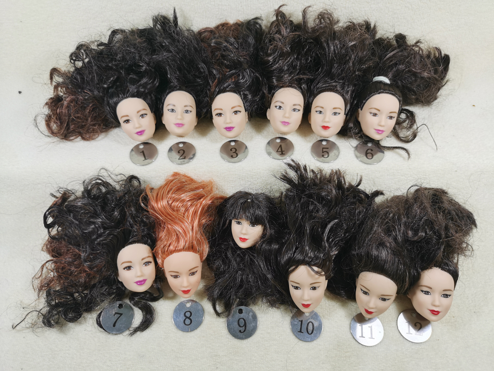 B9-1 Original Foreign Trade East Asia Korea China Beauty NO Smile Phoenix Eyes 1/6 OOAK NUDE Rarely Doll Head Mussed