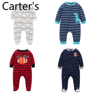 Carter's Autumn and winter long-sleeved romper suit foot-covered jumpsuit Lucky Child Infant Girl New Born Boy Baby Girl Clothes