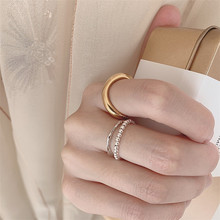 FFLACELL nuevo diseño Vintage minimalista Metal onda suave anillo Irregular para mujeres chicas damas regalos joyería Envío Directo