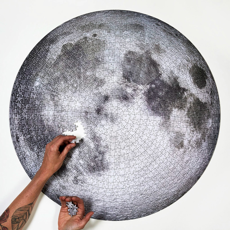 Round Moon Puzzle 1000 Pieces Adult Kids Educational Toys  Toys Jigsaw Puzzles 1000 For Toys Vintage Children BB50PT