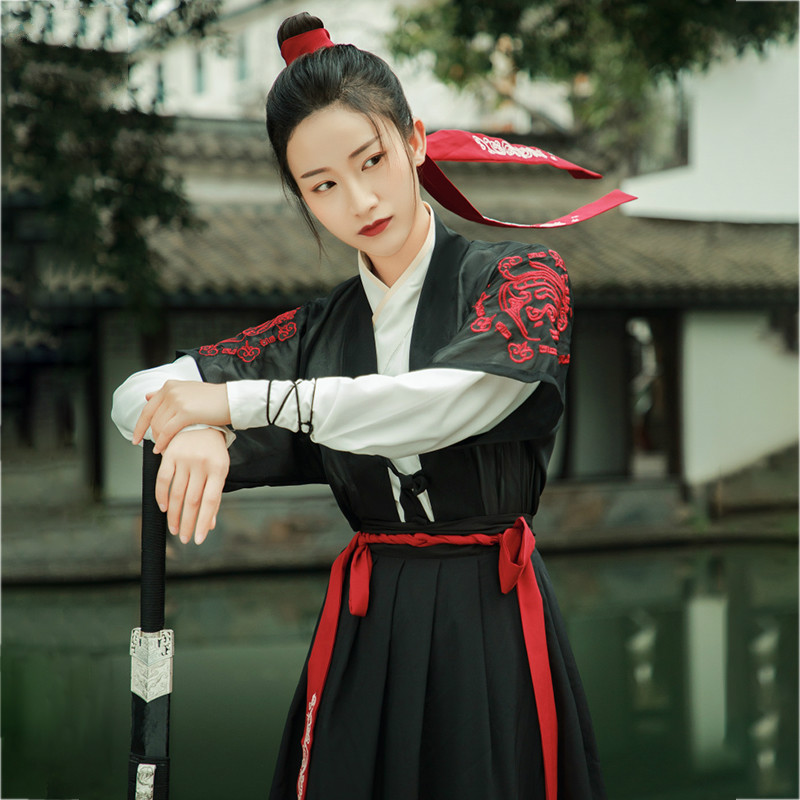 Tang Dynasty Ancient Costumes Hanfu Dress Women Swordsman Cosplay Clothing Lady National Costume Fairy Outfit Ethnic Wear 90