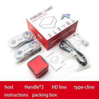 Mini Retro konsola do gier 4K HD gra wideo odtwarzacz zręcznościowa PS1 FC konsole do gier Home TV PC odtwarzacze MP3 Mp4 wbudowane 1500 gier BOX tanie i dobre opinie AUKUK CN (pochodzenie) Mini Game Box with Built-in 1500 Games