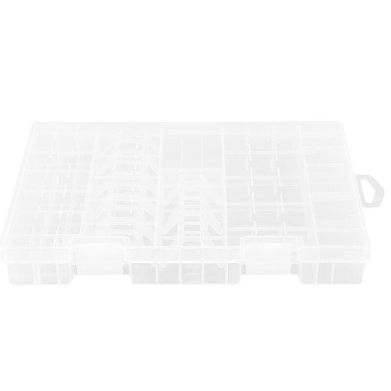 Tüketici Elektroniği'ten Pil Saklama Kutuları'de Çok fonksiyonlu AAA AA C D 9V pil tutucu sert plastik saklama kutusu rafları title=