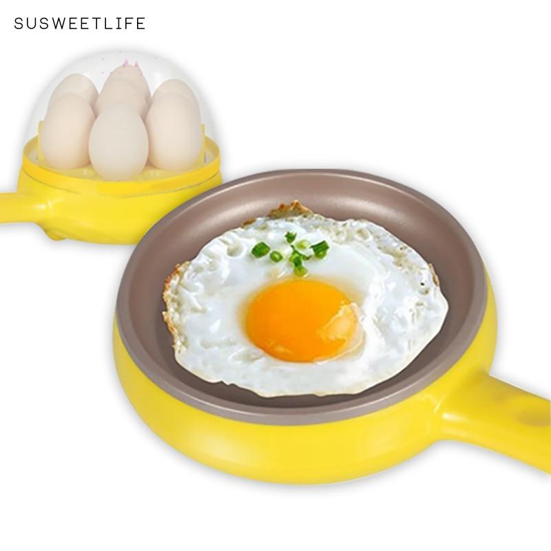 Multifunction household mini egg omelette Pancakes Electric Fried Steak Frying Pan Non Stick Boiled eggs boiler steamer Shut Off Egg Boilers    - AliExpress