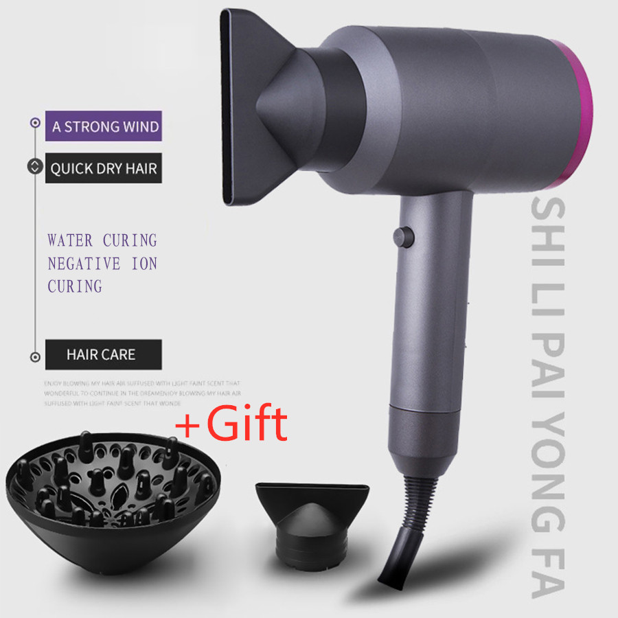 <font><b>2000W</b></font> Professional Hair Dryer High Power Styling Tools Blow Dryer Hot Cold Wind <font><b>220</b></font>-240V Hairdressing Hairdryer image