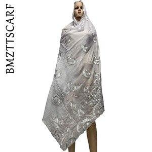Image 3 - Yeni varış afrika kadınlar eşarp yumuşak pamuk nakış atkılar şal satış BM778