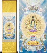 Guanyin budismo seda cuelga una imagen/enmarcado pintura china desplazamiento pintura al por mayor YX1888