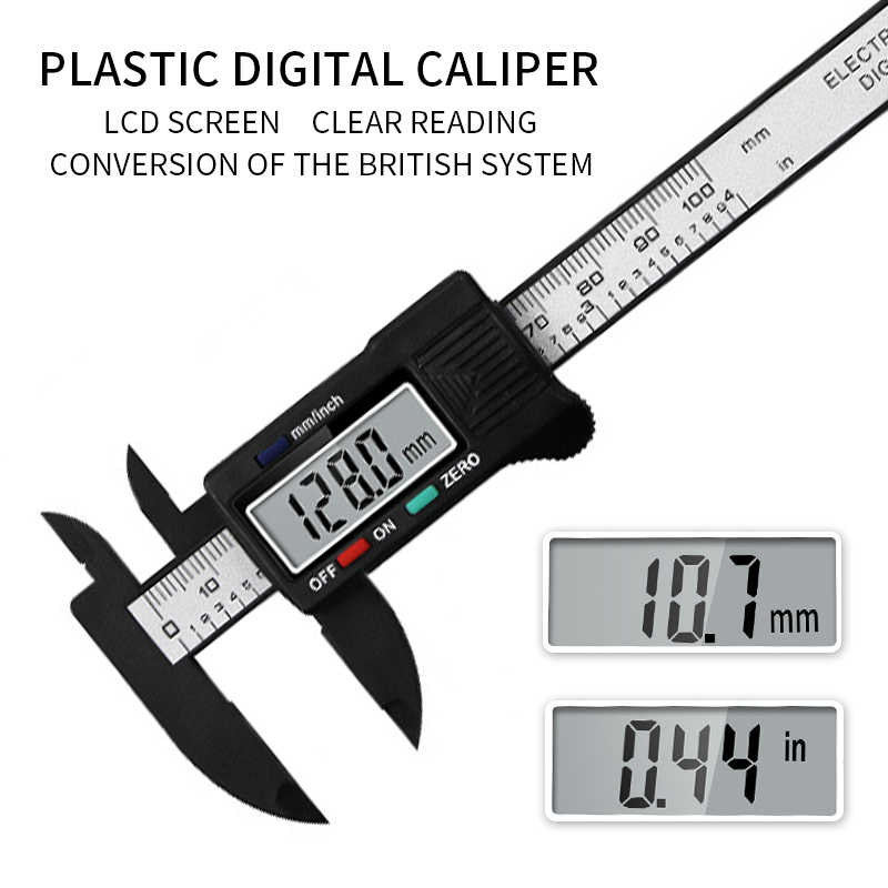 Measuring Tool 150mm Electronic Digital LCD Display Stainless Steel Caliper 1pc