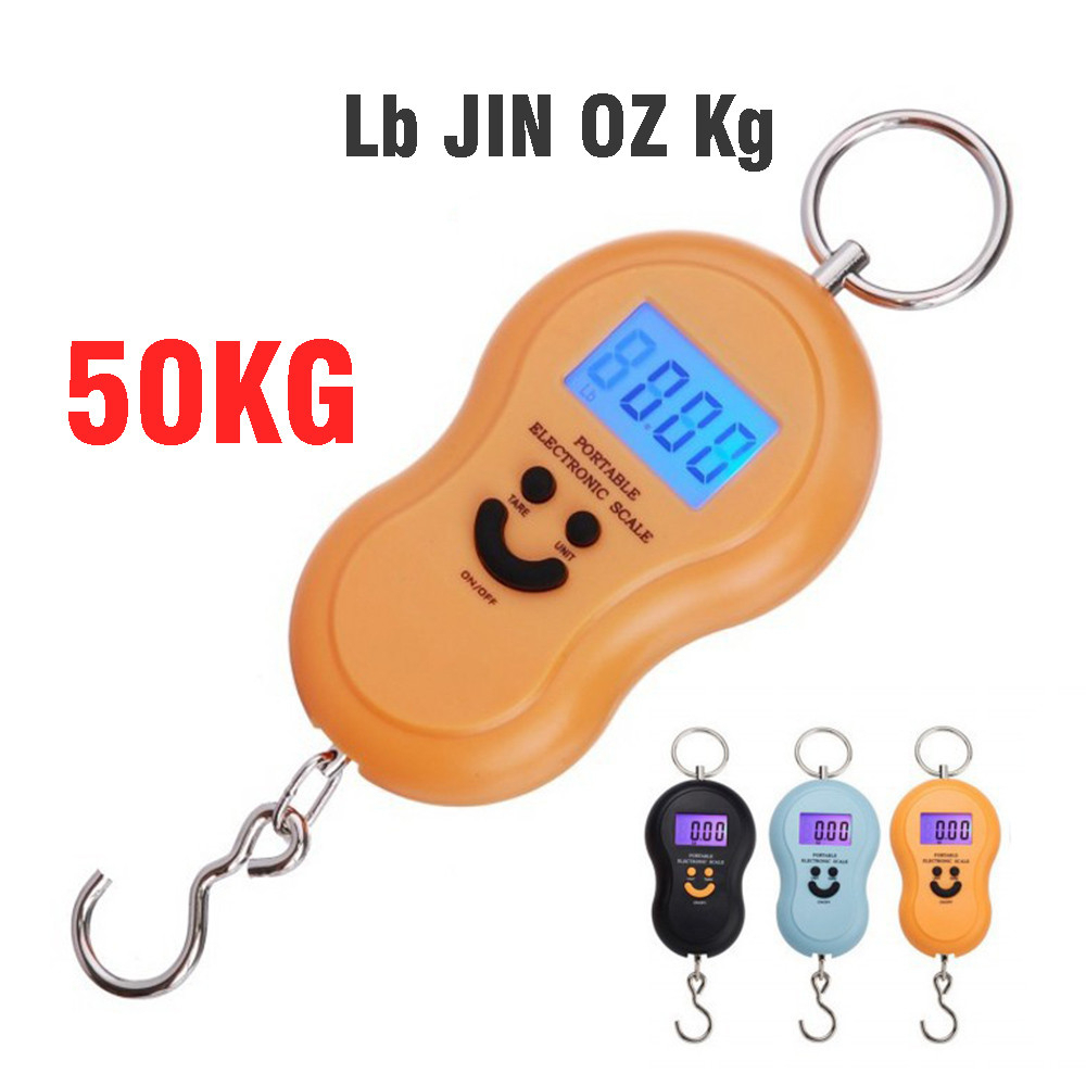 Mini Digital Portable Hook Scale 50Kg For Fishing Travel Weighting Small Food Kitchen Steelyard Hanging Electronic Weight Scales