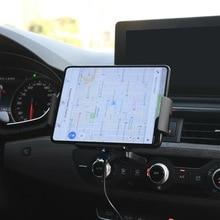 Автоматическое зажимное автомобильное беспроводное зарядное устройство для Samsung Galaxy Fold Note 10 8 S20 S9 iPhone XR 11 XS Max держатель для телефона с венти...