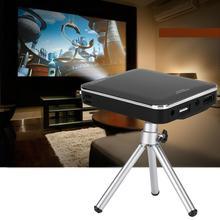 טלפון נייד מיני מקרן 2000 lumens 4K HD מקרן 854*480 WVGA DLP 0.3 אינץ DMD HDMI וידאו מקרן קולנוע ביתי