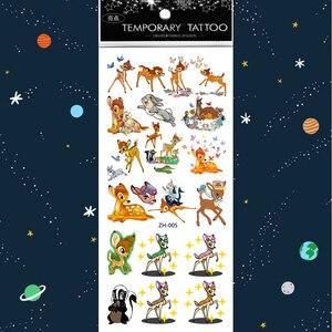 Image 5 - 500 PCS/lot imperméable temporaire tatouages tatouage enfants Tatoo autocollant filles manches corps pour faux eau enfants Tattos autocollants