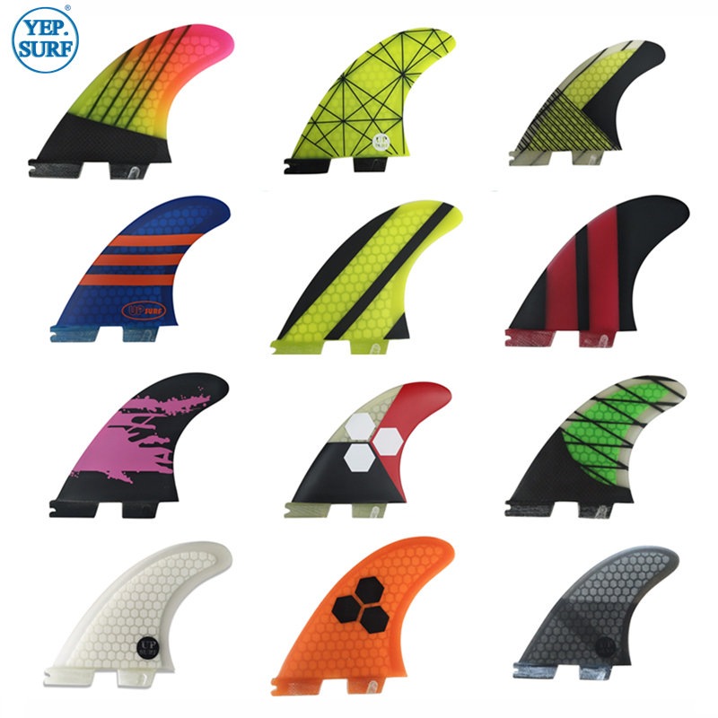 Surf Tri/Twin Fin Set FCS2 G5 FCS Ii G5 Surfing Fins For Surfboard Sup Board Fiberglass Honeycomb Cabon Fin 2/3 Pcs Per Set