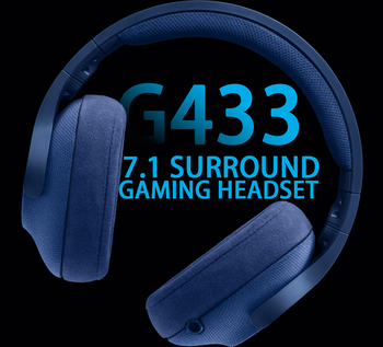 Logitech G433 SURROUND GAMING HEADSET 7.1 3D POSITIONAL AUDIO Surround for All Gamer Wired Headsets with MIC for PC PS4 Xbox VR 5