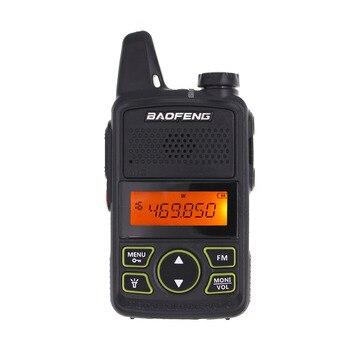2pcs/lot BAOFENG T1 MINI Two Way Radio BF-T1 Walkie Talkie UHF 400-470mhz 20CH Portable Ham FM CB Radio Handheld Transceiver 1