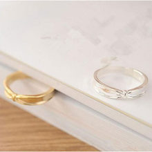 New Korean Fashion Bow Knot Ring Simple Cute Sweet Ring Bague Bijoux Femme Lover Gift Engagement Wedding Jewelry Wholesale WD536(China)