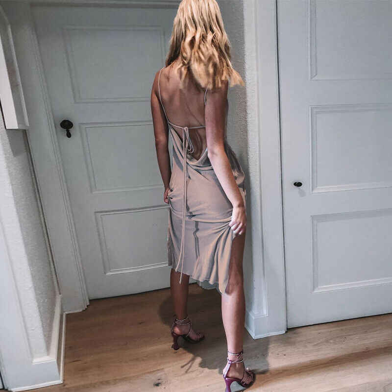 新着女性ノースリーブのストラップ V ネックドレス夏のベルベットイブニングパーティーボディコンドレスセクシーなレディースクラブウェアサンドレス