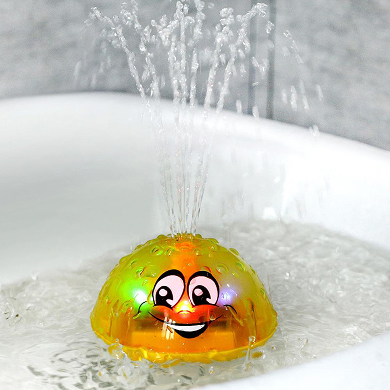 Spray Water Ball Colorful Children's Electric Induction Sprinkler Funny Bath Toy Safe For Infant Light Baby Play Bath Toy