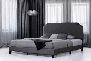 Upholstered Bed Platform Bed Frame With Headboard King Size Bed Home Furniture Modern Bedroom Furniture