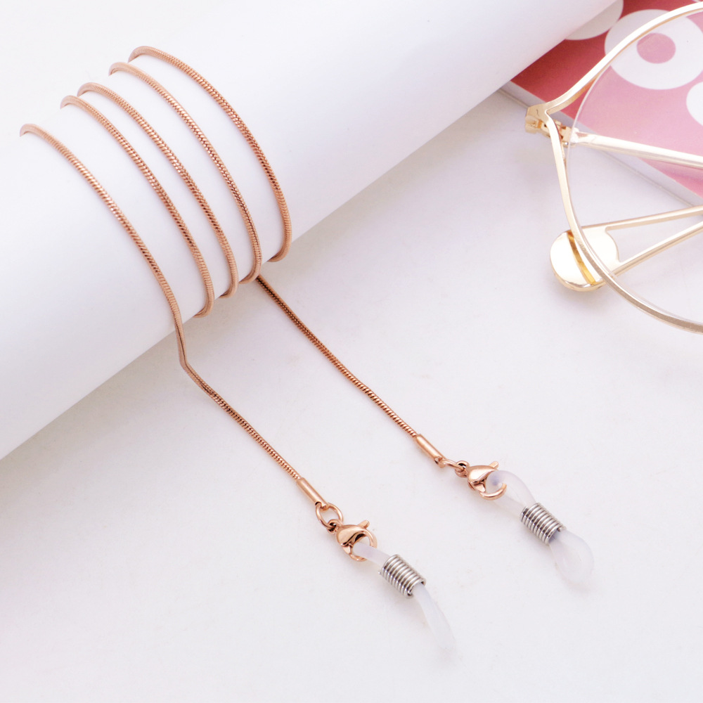 Women Glasses Chains Metal Sunglasses Holder Cord Lanyard Non-slip Lace For Eyeglass Neck Strap Fashion Eyewear Rope For Unisex