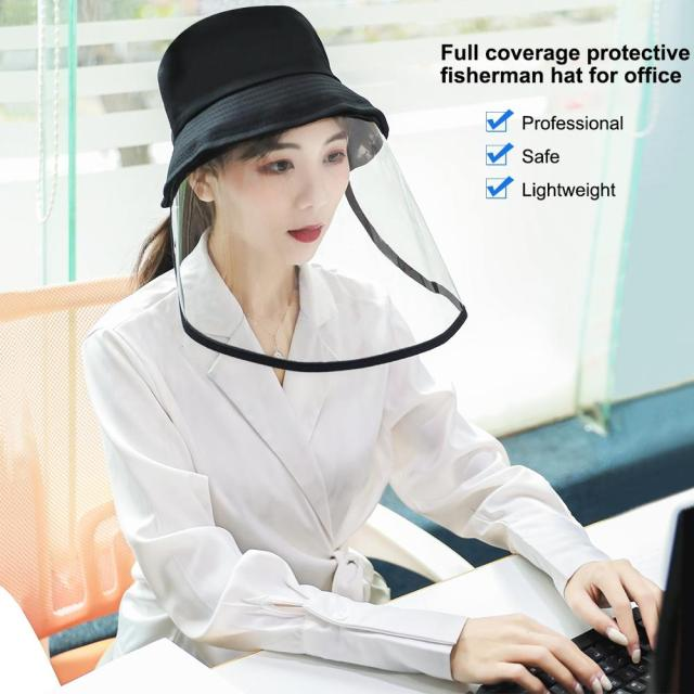 PULUZ Outdoor Protective cap & Anti-Saliva Splash Safety Face Shield Removable Full Face Mask Cover Hat 5