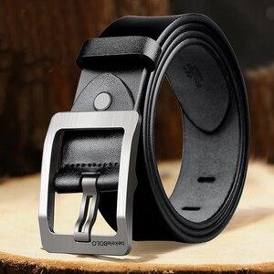 Image 2 - Cinturones de diseñador para hombre, cinturones casuales de alta calidad, Estilo Vintage, de cuero genuino, 8868