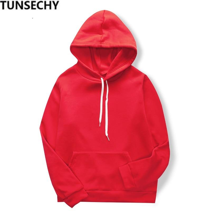 19 women's long-sleeved plain hooded sweatshirt plain multi-color men's and women's casual pullover hoodie 2